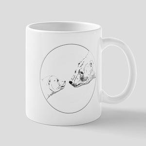 Polar Bear & Cub Art Mugs