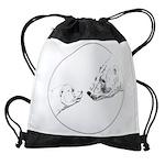 Polar Bear & Cub Art Drawstring Bag