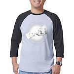 Polar Bear & Cub Art Mens Baseball Tee