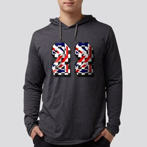 Number 22 Mens Hooded Shirt