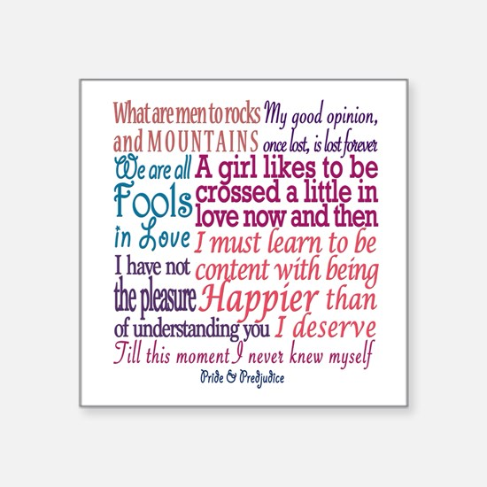 Pride & Prejudice Quotes Sticker