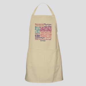 Pride & Prejudice Quotes Light Apron