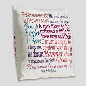 Pride & Prejudice Quotes Burlap Throw Pillow