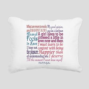 Pride & Prejudice Quotes Rectangular Canvas Pillow