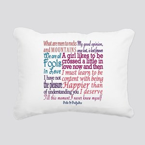 Pride & Prejudice Quotes Rectangular Canvas Pillow