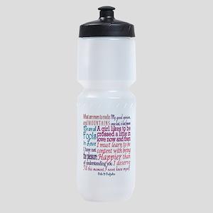 Pride & Prejudice Quotes Sports Bottle