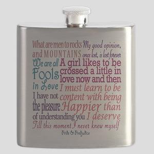 Pride & Prejudice Quotes Flask