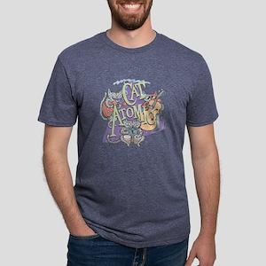 Cat Atomic Mens Tri-blend T-Shirt