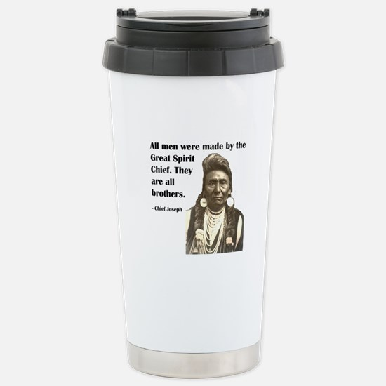 Brotherhood Quote Stainless Steel Travel Mug