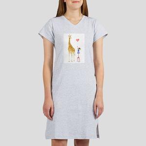 Giraffe with little girl and balloon T-Shirt