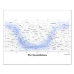 Chart Of The Constellations Small Poster
