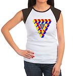 KUBEZ Women's Cap Sleeve T-Shirt