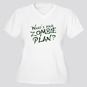 What's Your Zombie Plan? Women's Plus Size V-Neck