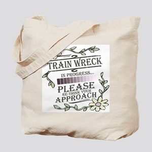 Train Wreck Tote Bag