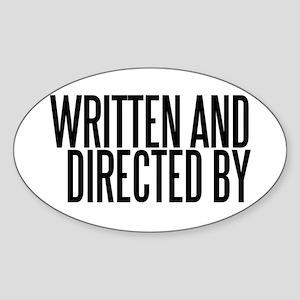Screenwriter / Director Oval Sticker