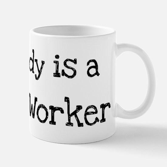 My Daddy is a Postal Worker Mug