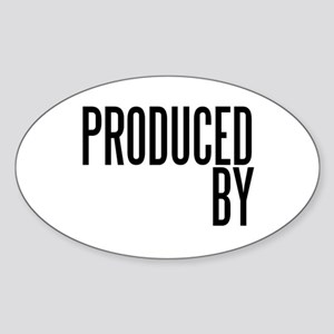 Film Producer Oval Sticker