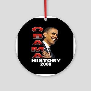 Obama History Ornament (Round)