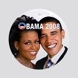 Barack and Michelle Ornament (Round)