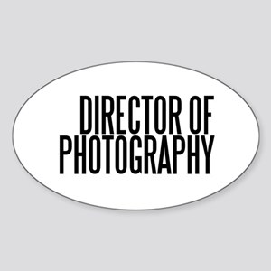 Director of Photography Oval Sticker