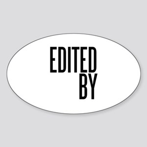 Film & Video Editor Oval Sticker