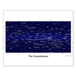 Galactic Coords Constellations Small Poster