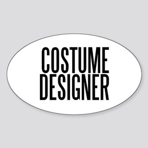 Costume Designer Oval Sticker