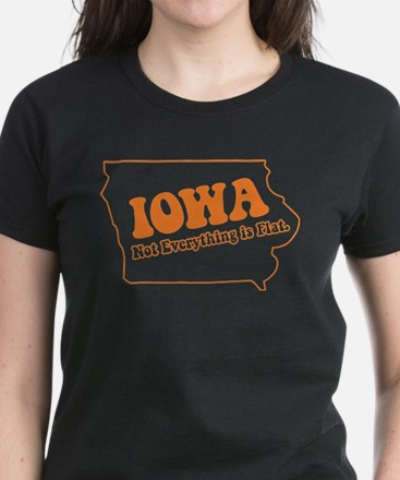 Flat Iowa State Women's Dark T-Shirt