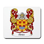 Peres Family Crest Mousepad