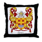 Peres Family Crest Throw Pillow