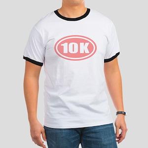 Pink 10 K Runner Oval Ringer T
