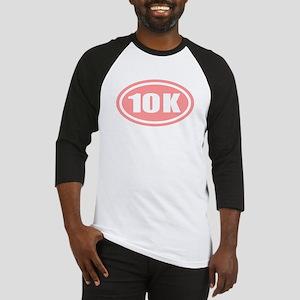Pink 10 K Runner Oval Baseball Jersey