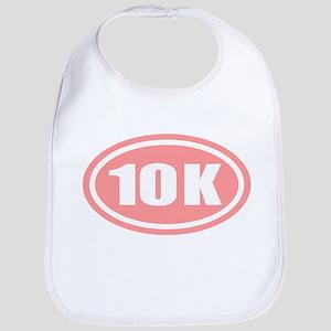 Pink 10 K Runner Oval Bib