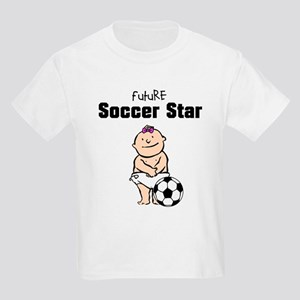 Future Soccer Star Girl Kids Light T-Shirt