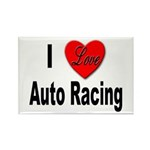 I Love Auto Racing Rectangle Magnet (10 pack)