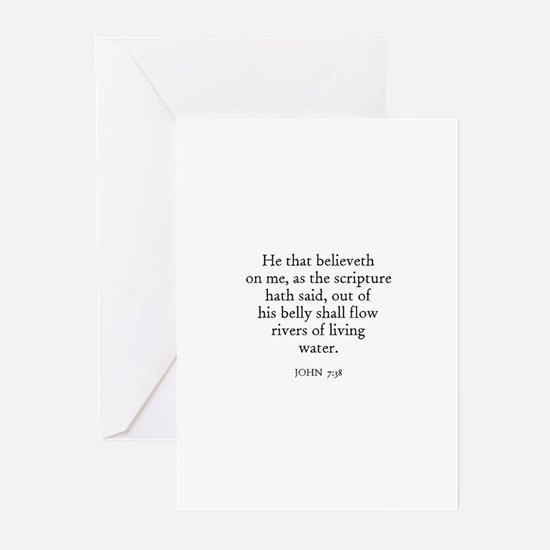 JOHN  7:38 Greeting Cards (Pk of 10)