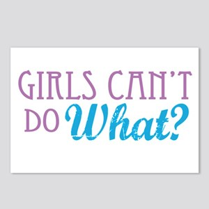 Girls Can't Do What? Postcards (Package of 8)