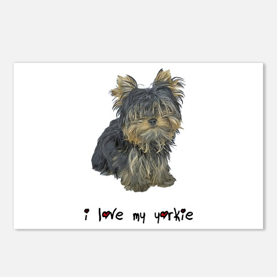 I Love My Yorkie Postcards (Package of 8)