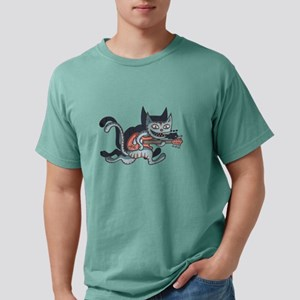 Lead Guitar Cat Mens Comfort Colors® Shirt