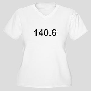 140.6 (Ironman Triathlon) Women's Plus Size V-Neck