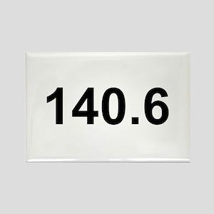 140.6 (Ironman Triathlon) Rectangle Magnet