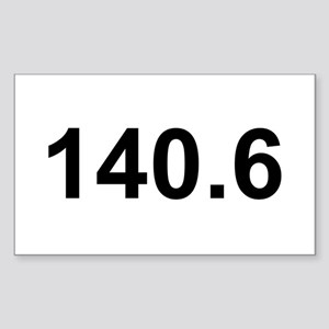 140.6 (Ironman Triathlon) Rectangle Sticker