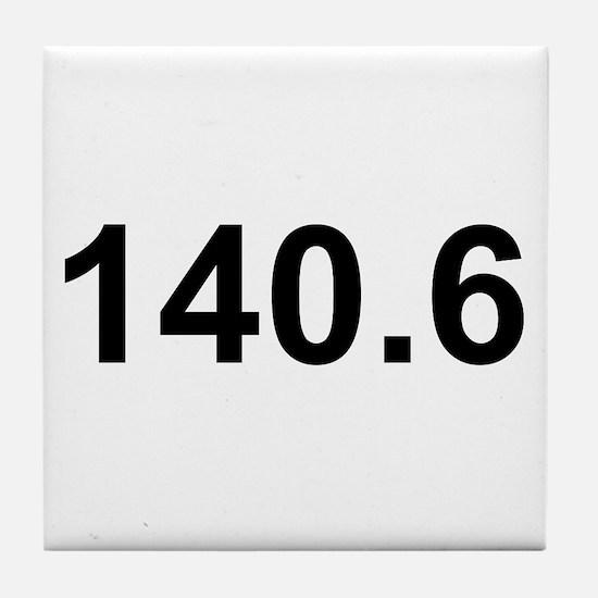 140.6 (Ironman Triathlon) Tile Coaster