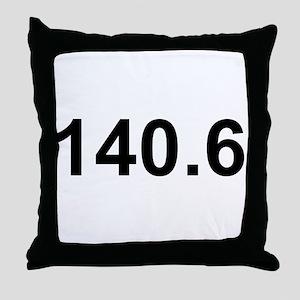 140.6 (Ironman Triathlon) Throw Pillow