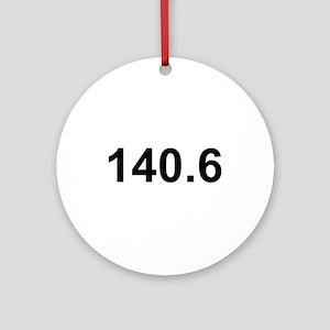 140.6 (Ironman Triathlon) Ornament (Round)