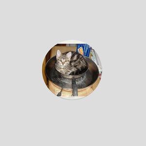 Kitten in a frying pan Mini Button