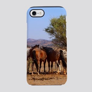 Horses whispering iPhone 8/7 Tough Case