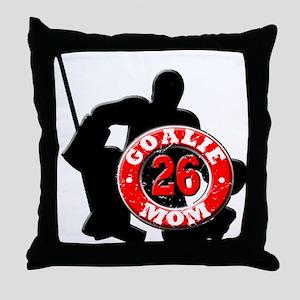 Hockey Goalie Mom #26 Throw Pillow