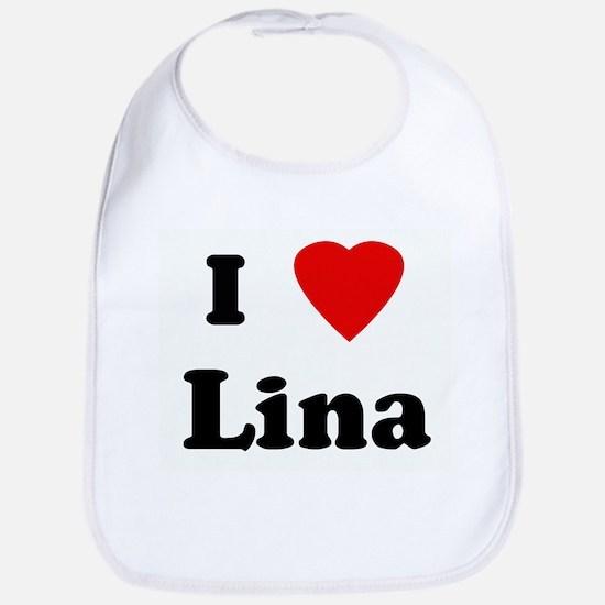 I Love Lina Bib