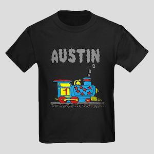 Train with Austin in Smoke Kids Dark T-Shirt